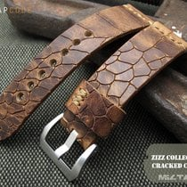 MiLTAT 24mm Cracked Croco Middle Brown Watch Strap