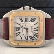Cartier Santos 100 XL Ouro e Aço Impecável