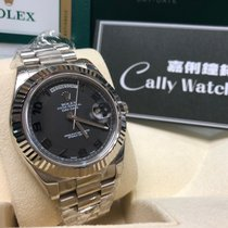 Rolex Cally - Dis-con 41MM Day-Date II 218239 B2SA SILVER...