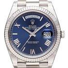 Rolex Day-Date 40 18 kt Weißgold 228239 Blau R