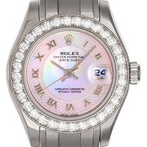 Rolex Ladies Pearlmaster 18k White Gold Watch 80299 Pink MOP...