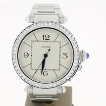 Cartier Pasha Steel Afterset Diamond 42mm (B&P2009) MINT