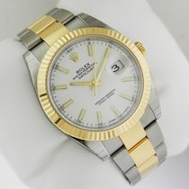 Rolex 126333 DateJust II Gold & Steel 41mm White Stick Dial