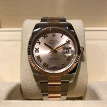 Rolex Datejust 36mm Steel and Rose Gold B&P