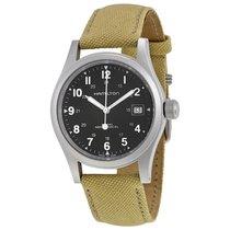 Hamilton Khaki Field Mechanical Men's Canvas Strap Watch...