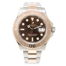 勞力士 (Rolex) Yacht Master 18k Rose Gold And Steel Brown...