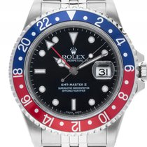 ロレックス (Rolex) GMT Master II rot blau Pepsi Stahl Automatik...