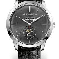Girard Perregaux 1966 FULL CALENDAR White Gold Dial Black...