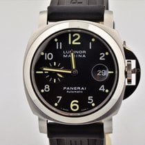パネライ (Panerai) Men's  Luminor Marina Automatic Black Dial...