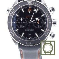 Omega Seamaster Planet Ocean Chrono 600m black 45.5mm leather