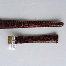 Gucci BROWN CROC LEATHER STRAP 14MM