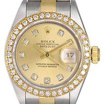 Rolex Ladies Rolex Datejust Watch 79173 Custom Champagne Dial