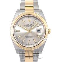 Rolex Datejust 41 Silver/18k gold 41mm - 126333