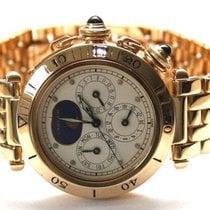 Cartier Pasha Kalender Mondphase GMT 18k 750er Gelbgold...