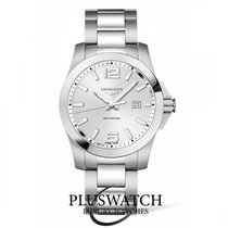 Longines Conquest 43mm Stainless Steel Silver Dial