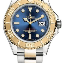 Rolex Oyster Perpetual Date Blue Yacht-Master  Gold and steel