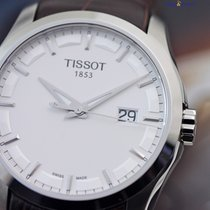 Tissot Mens' Couturier Quartz 39mm Steel on Leather Silver...
