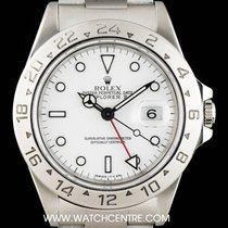 Rolex Stainless Steel White Dial Red Hand Explorer II Gents 16570