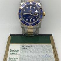 Rolex 116613 Gold Steel Submariner With Original Diamonds Dial
