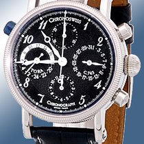 "Chronoswiss ""Tora Dual-Time"" Chronograph Strapwatch."