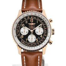Breitling Navitimer 01 43 Arabic Numeral Dial Gold Case Light...