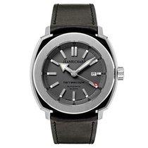 JeanRichard Men's Terrascope Leather Strap Automatic Watch...