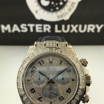 Rolex 116599TBR Daytona White Gold Diamond Bezel