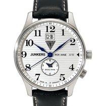 Junkers Iron Annie Ju52 Quartz Watch Big Date Dual Time 40mm...