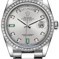 劳力士  (Rolex) Day-Date 36mm Platinum Diamond Bezel 118346...