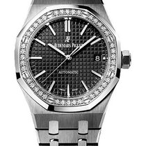 Audemars Piguet Royal Oak Ladies Stainless Steel 37mm Diamond...