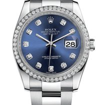 Rolex Datejust 36mm Steel and Diamonds Bezel