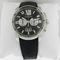 Cartier Calibre de Cartier Chronograph W7100060 Steel Black Dial