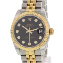 Rolex Midsize Rolex Datejust SS/18K YG/Diamond 178273
