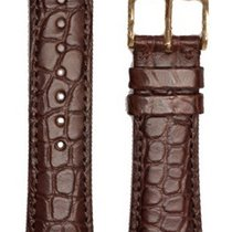 Hirsch Uhrenarmband Regent Alligator braun matt M 04107119-1-1...