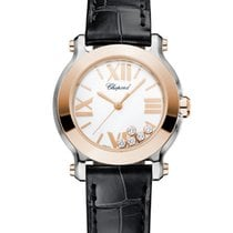 Chopard Happy Sport 18K Rose Gold, Stainless Steel &...