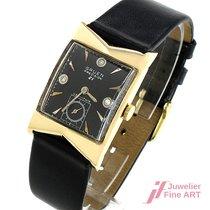Gruen Art Deco Precision 21 veri-thin -14K Gelbgold - Handaufz...