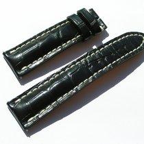 Breitling Croco Armband 22/20mm (80/120) Schwarz Black...