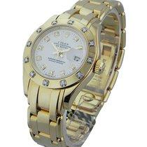Rolex Used 80318 Ladys YG Masterpiece with 12 Diamond Bezel -...