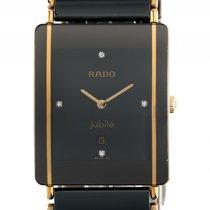 Rado Diastar Jubilé Keramik Gelbgold Diamond Quarz Armband...