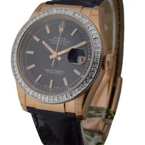 Rolex Unworn 116185_black_stick Rose Gold Datejust 36mm on...