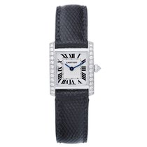 Cartier Tank Francaise 18k White Gold & Diamonds Ladies...