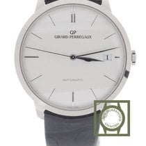 Girard Perregaux 1966 41mm White Gold Crocodile Strap NEW