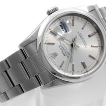 Rolex 36mm Steel Datejust Silver Dial Oyster Band - 16220...