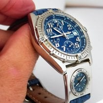 브라이틀링 (Breitling) Chronomat Vitesse UTC, blue dial, Full Set,...