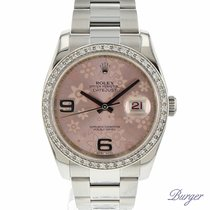 Rolex Datejust 36 Stainless Steel Oyster / Pink Floral / Diamonds