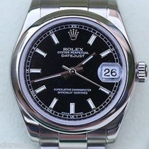 Rolex Datejust Midsize 178240 Stainless Steel Black Dial Boxes...
