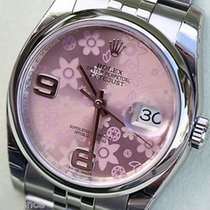 Rolex New Rolex Womens Ladies Datejust 36mm Pink Floral Flower...