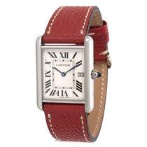 Cartier Tank Louis W1540956 Men's Watch in White Gold