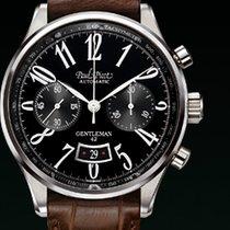 Paul Picot GENTLEMENT cronograph strap skin brown dial black