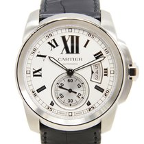 Cartier Calibre De Cartier Stainless Steel Silvery White...